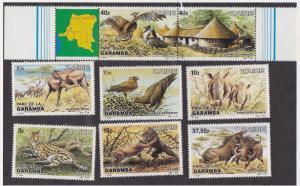 Zaire # 1131-1138, African Animals, NH, Half Cat