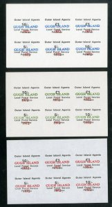 Gugh Island local Stamps Lot of 9 sheets NH 3 different sets scarce
