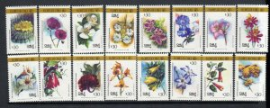 Chile 1988  SC # 795 a-p Flowers of Chile MNH