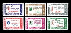 US #1139-1144 American Credo Series Set of 6 MNH