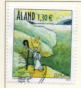 Aland Finland Sc  248 2006 Europa stamp  used