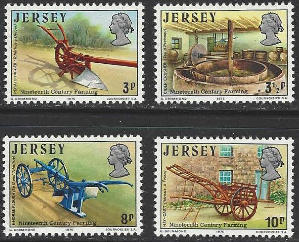 Jersey #120-123 MNH Full Set of 4 Farming Tools