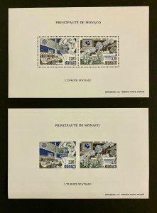 Monaco Stamps Bloc Speciaux CEPT N°14 &14a Space 1991 Perf & Imperf.