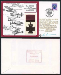 DM3a Award of the Victoria Cross to Airmen 12p Jersey Signed by G. Bunn (B)