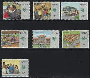 Kenya SC469-475 10yearsAnniv.PresidentOfKenya Daniel crapMoi MNH
