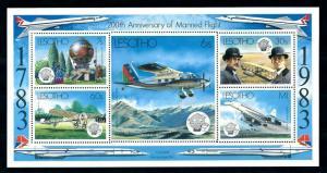 [98304] Lesotho 1983 Aviation Aircrafts Balloon Concorde Sheet MNH