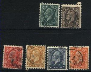 Canada #195, 196, 197, 198, 199, 200  -1  u 1932 PD