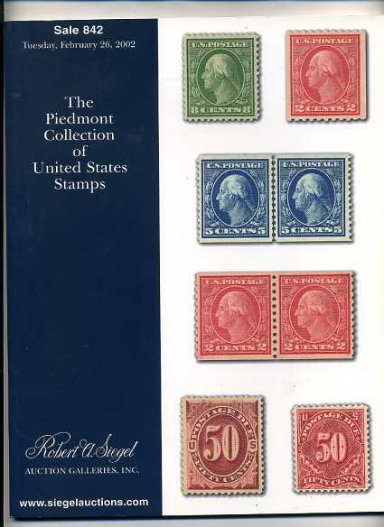 Siegel Stamp Sale of Classic Mint US Stamps