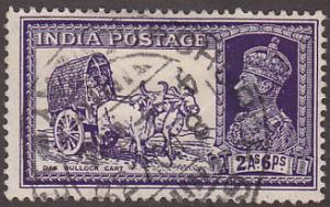 India 155 Hinged Used 1937 Mail Transport