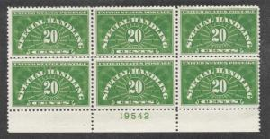 QE3 MNH 20c. Special Handling, scv: $60