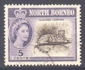 North Borneo Scott 282 - SG393, 1961 Elizabeth II 5c used