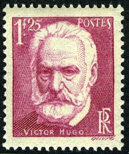 France 303, MNH. Victor Hugo, French poet, novelist, and dramatist, 1935