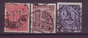 J20644 Jlstamps 1920 germany used #ol10-12 numeral local official