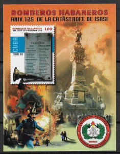 Cuba MNH S/S 125th Anniversary Of Fire Catastrophe 2015