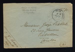 FRANCE 1945 MARINE EN ALGÉRIE * Le Vaguemestre * SUR LSC ALGER À TOULON (F-N299)