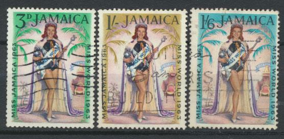 Jamaica  SG 214 -216 set   - Used    -  see scan and details