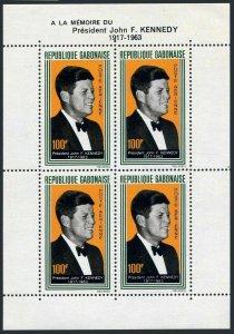 Gabon C27a sheet,MNH.Michel Bl.3. President John F.Kennedy,1964.