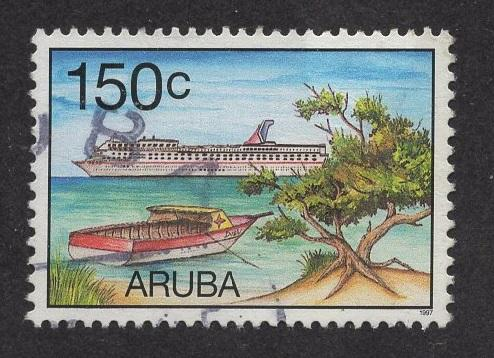 Aruba   #153   used  1997  cruise tourism   150c