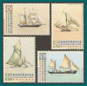 Australia 1992 Australia Day, Ships, MNH #1249-1252,SG1333-SG1336
