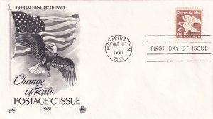 1981, C Change of Rate, Art Craft/PCS, FDC (E11326)