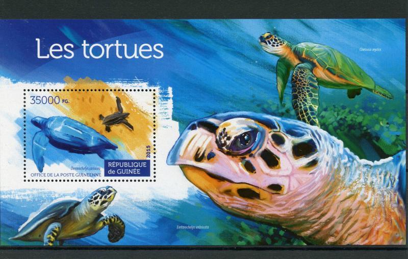 Guinea MNH S/S Turtles Reptiles 2015