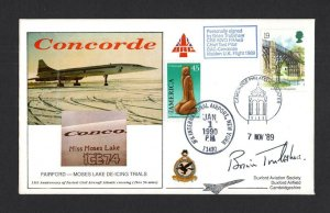 1989/90 CONCORDE COVER SIGNED BY BRIAN TRUBSHAW