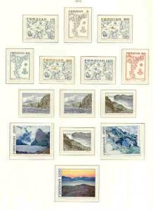 Faroe Islands Sc 7-20 1975 long stamp set mint NH