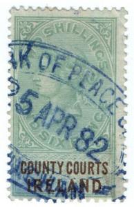 (I.B) QV Revenue : County Courts Ireland 2/6d (1878)