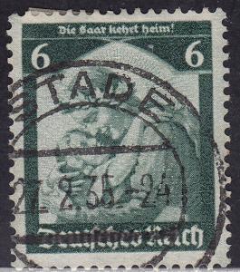 Germany 449 USED 1935 Germania Welcoming Home The SAAR