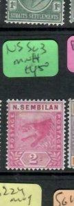 MALAYA NEGRI SEMBILAN  (PP2706B)  TIGER   2C  SG 3    MNH