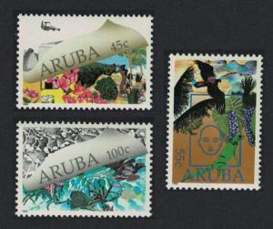 Aruba Birds Marine Life Environmental Protection 3v 1990 MNH SG#74-76