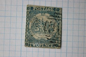 New South Wales NSW Australia sc#5h or 5n used 2p two pence cv$400