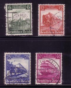 Third Reich Sc. # 459 / 462 Trains Used