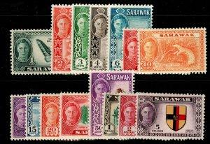 SARAWAK SG171-185, 1950 COMPLETE SET, M MINT. Cat £120.