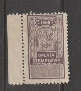 Poland Revenue Fiscal Cinderella stamp 9-20-2 - mnh gum - slight gum disturb