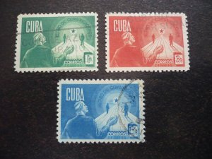 Stamps - Cuba - Scott# 381-383 - Used Set of 3 Stamps