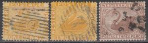 Western Australia #49-50, 53  F-VF Used  CV $10.50 (A16715)