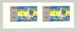 Nagaland (Propaganda) 1971 Sailing, Olympics 1v Imperf S/S Collective Proof Pair