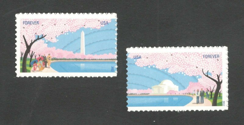 4651-52 Cherry Blossom Set Of 2 Mint/nh FREE SHIPPING