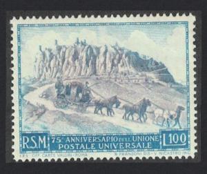 San Marino Horses 75th Anniversary of UPU 100L SG#403 MI#438 SC#304