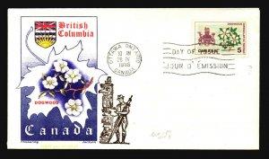 Canada SC# 423 FDC / Chickering Jackson Cachet - L3208