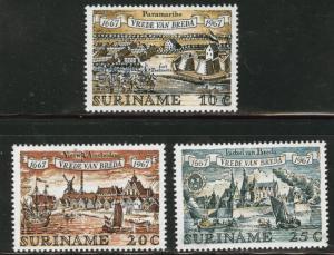 Suriname Scott 349-351 MH* 1967 set