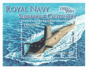 Sierra Leone # 2468 & 2469, Royal Navy Submarine Centennial, NH, 1/2 Cat.