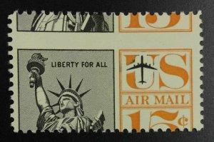 MOMEN: US STAMPS #15c VAR. MISPERF MINT OG NH LOT #52968