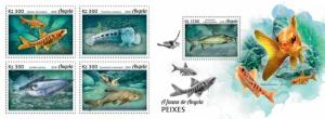 Z08 ANG18103ab ANGOLA 2018 Fishes 4v MNH ** Postfrisch