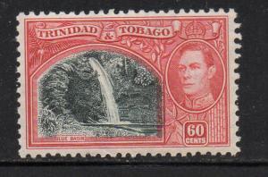 Trinidad & Tobago Sc 59 1938 60c G VI & waterfall stamp mint