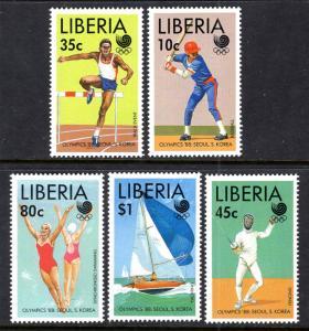 Liberia MNH 1091-5 Summer Olympics 1988 SCV 6.25