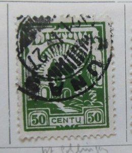 A11P5F42 Litauen Lituanie Lithuania 1925 50c Wmk Intersecting Diamonds 50c used