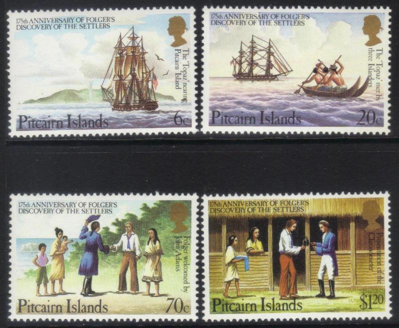 PITCAIRN ISLANDS 1983175th ANNIV OF FOLFER'S DISCOVERY MNH SET OF 4