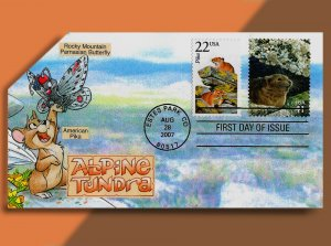 The PIKA Takes Center Stage on this Alpine Tundra Combo Pop-up FDC from 2007.